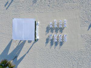 Boda en cancun con drones