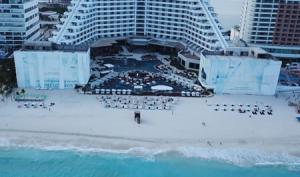 Evento con Drones Cancún Carmen Steffens Moda
