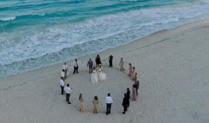 Evento boda en Cancún con drones